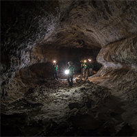 <p>ESA Astronauts training in terrestrial lava tubes in Lanzarote during the PANGEA 2016 course. Credit: ESA/L. Ricci</p>