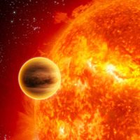 Scientists have reported the first conclusive discovery of water vapor in the atmosphere of an exoplanet, or a planet beyond our solar system.<br /><br />This artist's impression shows a gas-giant exoplanet transiting across the face of its star. Infrared analysis by NASA's Spitzer Space Telescope of this type of system provided the breakthrough.<br /><br />The planet, HD 189733b, lies 63 light-years away in the constellation Vulpecula. It was discovered in 2005 as it transited its parent star, dimming the star's light by some three percent.<br /><br />Image credit: ESA - C.Carreau